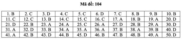 Bài giải môn toán kỳ thi tốt nghiệp THPT năm 2021 - Ảnh 10.