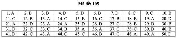 Bài giải môn toán kỳ thi tốt nghiệp THPT năm 2021 - Ảnh 11.