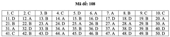 Bài giải môn toán kỳ thi tốt nghiệp THPT năm 2021 - Ảnh 14.