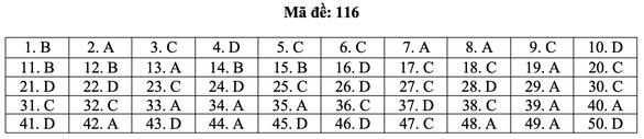 Bài giải môn toán kỳ thi tốt nghiệp THPT năm 2021 - Ảnh 22.