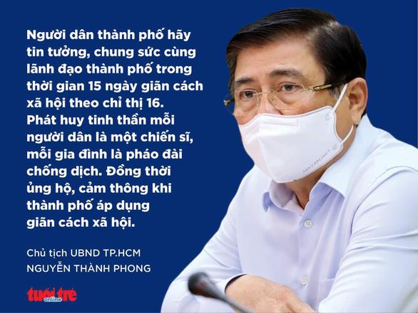Chủ tịch TP.HCM: Mỗi người dân hãy là một chiến sĩ để chống dịch - Ảnh 2.