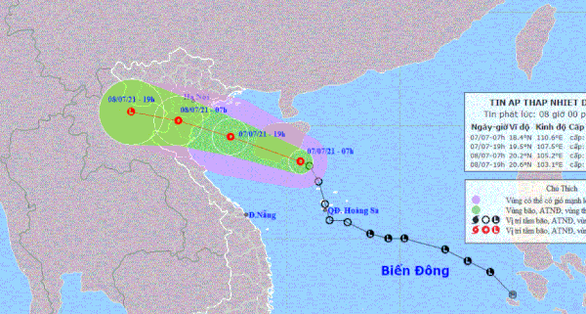 Áp thấp nhiệt đới có thể đổ bộ Hải Phòng - Thanh Hóa đêm nay, lên phương án cho thí sinh thi THPT - Ảnh 2.