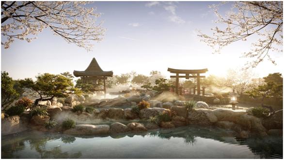 Cận cảnh tổ hợp căn hộ khoáng nóng Onsen 1.000 tỉ trong lòng đô thị Ecopark - Ảnh 2.