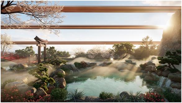 Cận cảnh tổ hợp căn hộ khoáng nóng Onsen 1.000 tỉ trong lòng đô thị Ecopark - Ảnh 3.