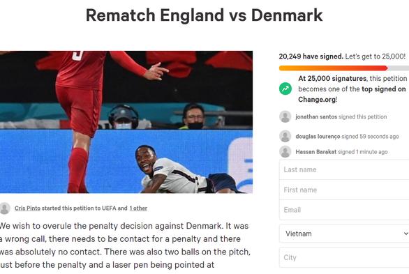 Hơn 20.000 người ký tên kiến nghị UEFA tổ chức đá lại trận Anh - Đan Mạch - Ảnh 1.
