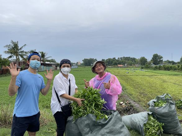 Nhà thiết kế Thuận Việt và 3 tuần cắt 15 tấn rau muống chở đến khu phong tỏa - Ảnh 3.