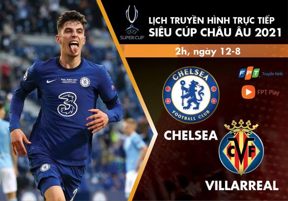 Lịch trực tiếp trận tranh Siêu cúp châu Âu 2021: Chelsea - Villarreal - Ảnh 1.