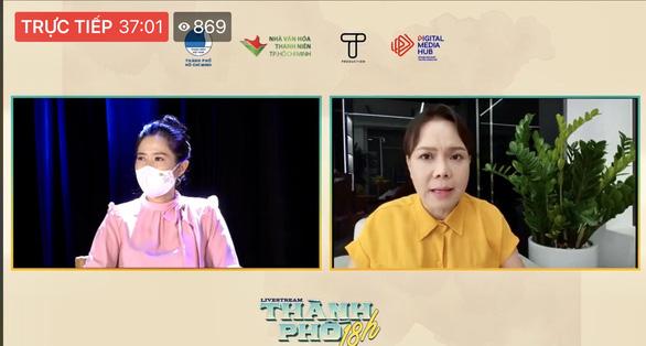 Bác sĩ, nghệ sĩ livestream chia sẻ với công chúng qua chương trình Thành phố 18h - Ảnh 4.