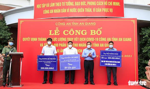 Công an An Giang ra mắt lực lượng truy vết dịch COVID-19, tặng 3.000 phần quà cho người nghèo - Ảnh 3.