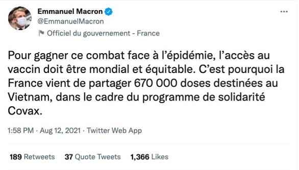 Pháp tặng Việt Nam 670.000 liều vắc xin COVID-19 - Ảnh 2.