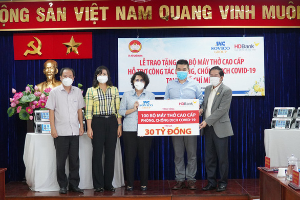 Tập đoàn Sovico, HDBank tặng 100 máy thở cao cấp, hiện đại cho TP.HCM - Ảnh 1.