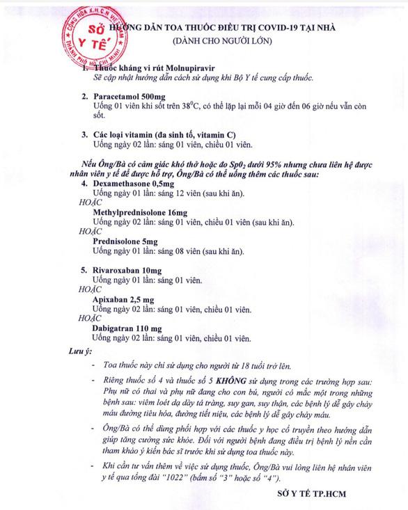 Sở Y tế TP.HCM hướng dẫn 6 hoạt động chăm sóc F0 tại nhà - Ảnh 2.