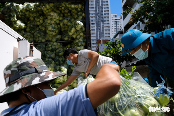 Đà Nẵng: 157 tấn rau củ được tài trợ đã đến quận Sơn Trà - Ảnh 6.