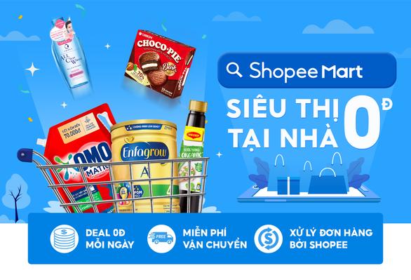 Nhiều ưu đãi giảm giá đến 50% cho nhóm hàng tiêu dùng thiết yếu tại Shopee Mart - Ảnh 1.