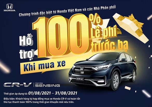 Nhận ngay ưu đãi 100% lệ phí trước bạ khi mua Honda CR-V trong tháng 8-2021 - Ảnh 1.
