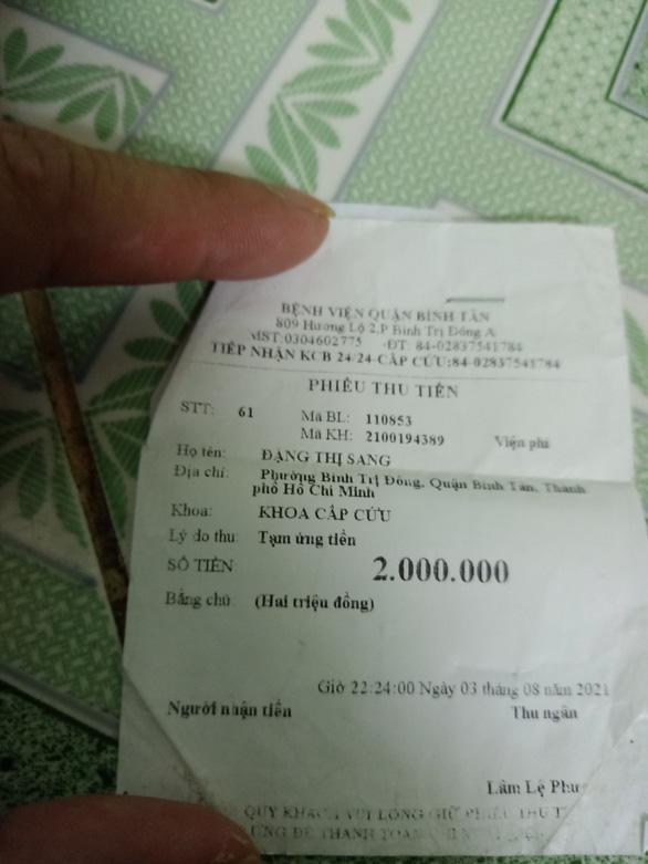 Bệnh viện Đa khoa Bình Tân hoàn trả viện phí cho người chết vì COVID-19 - Ảnh 2.