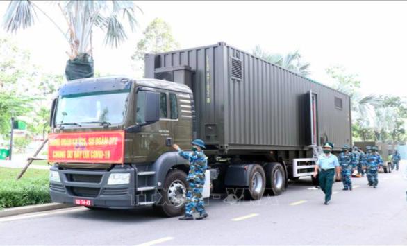 Quân đội triển khai trạm sản xuất oxy lưu động sẵn sàng hỗ trợ TP.HCM - Ảnh 3.
