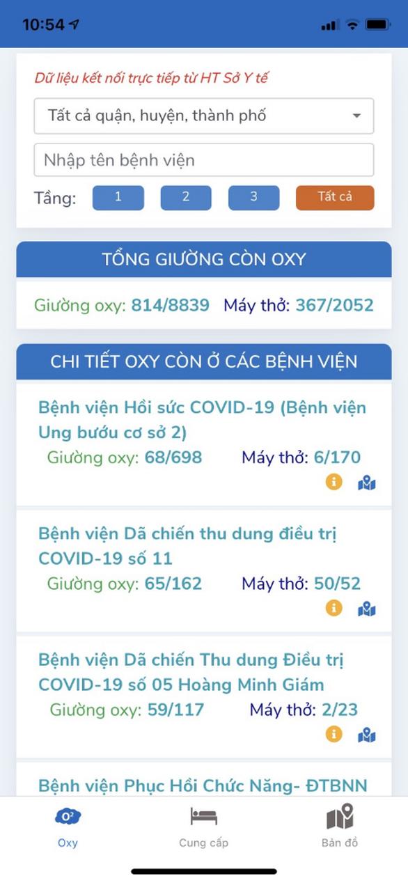 Ra mắt ứng dụng tìm giường oxy cho bệnh nhân COVID-19 - Ảnh 3.