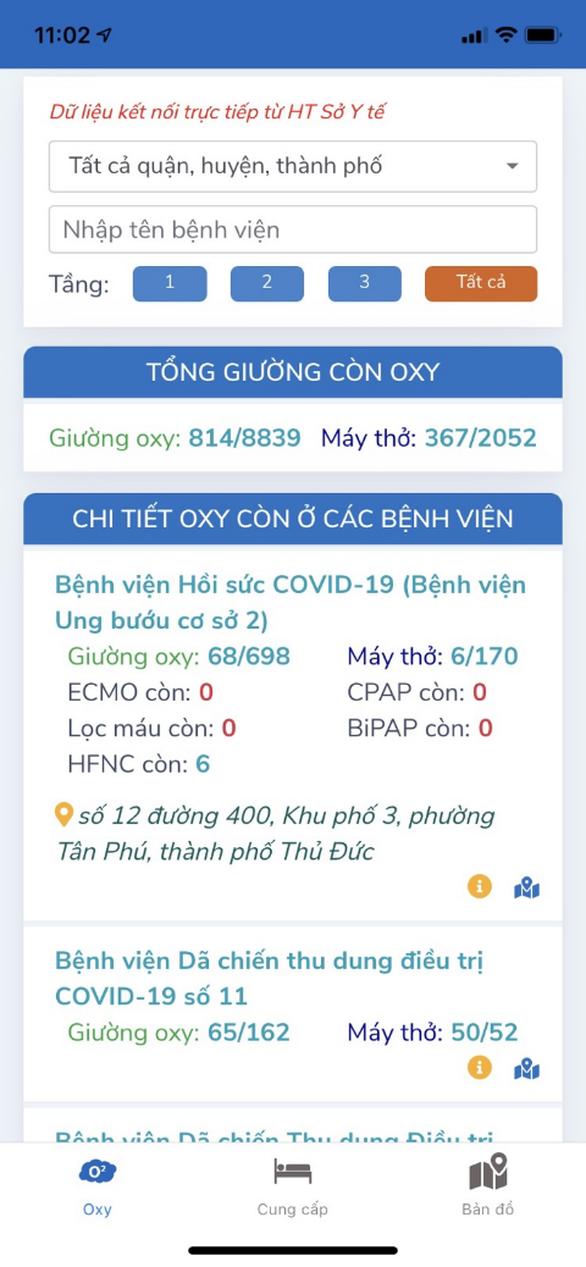 Ra mắt ứng dụng tìm giường oxy cho bệnh nhân COVID-19 - Ảnh 4.