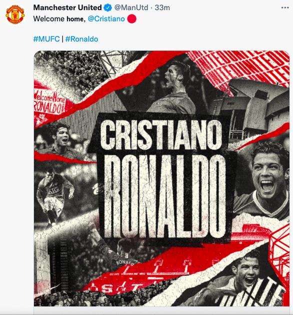 Chính thức: Ronaldo trở lại Manchester United - Ảnh 2.