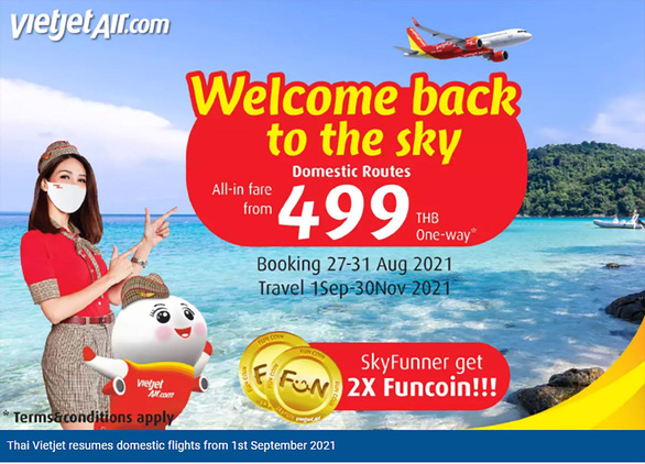 Thái Lan mở cửa, hàng không trở lại bầu trời - Ảnh 2.
