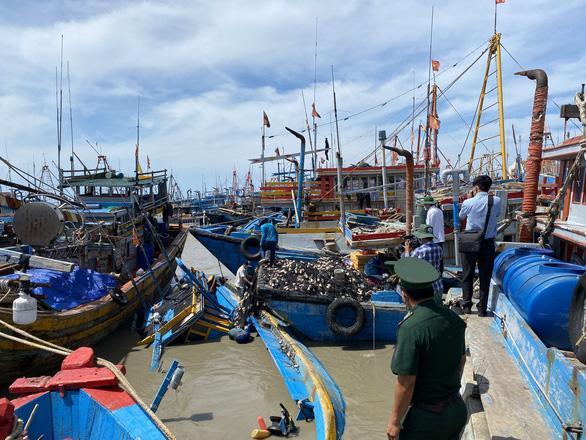 Lũ sông Dinh làm gần 100 ghe cá ngư dân La Gi chìm, hư hỏng - Ảnh 1.