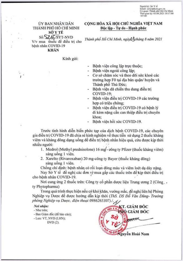 1 ngày, Sở Y tế TP.HCM 2 lần ra văn bản khẩn thu hồi 2 văn bản ban hành trước - Ảnh 3.