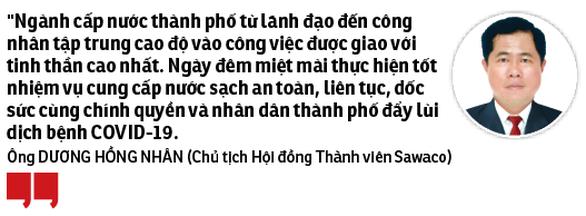 Tổng công ty Cấp nước Sài Gòn: Đảm bảo nước sạch cho người dân thành phố - Ảnh 2.