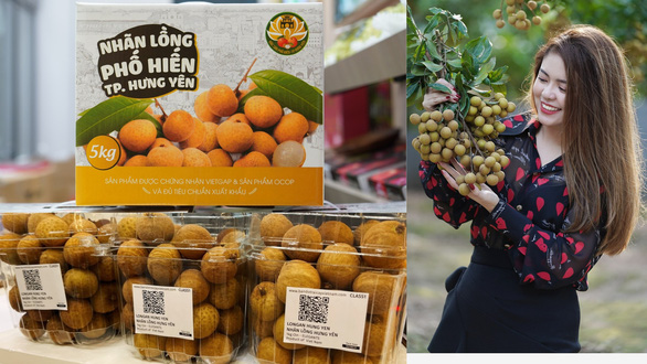 Nhãn lồng Hưng Yên bán hơn 220.000 đồng mỗi ký tại Singapore - Ảnh 1.