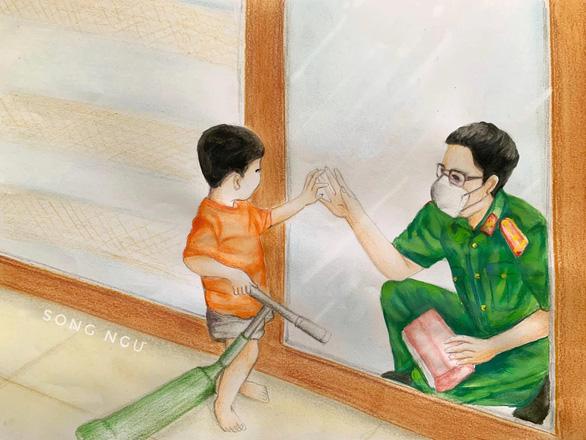 Những bức vẽ xúc động về cuộc chiến chống COVID-19 của cô giáo ở Vũng Tàu - Ảnh 11.