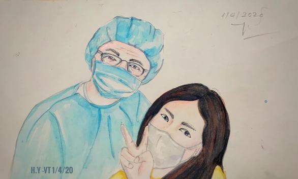 Những bức vẽ xúc động về cuộc chiến chống COVID-19 của cô giáo ở Vũng Tàu - Ảnh 6.