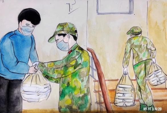 Những bức vẽ xúc động về cuộc chiến chống COVID-19 của cô giáo ở Vũng Tàu - Ảnh 9.