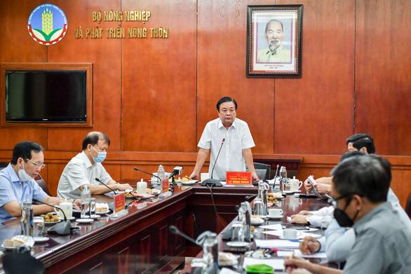 Bộ trưởng Lê Minh Hoan: Doanh nghiệp đừng chờ giá lúa xuống đáy rồi mới mua - Ảnh 1.
