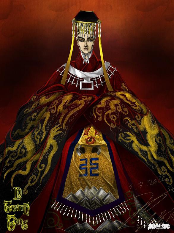 Thành Lộc, Mâu Thủy, Hương Ly hóa thân vua, hoàng hậu trong dự án Việt phục của Lê Long Dũng - Ảnh 4.