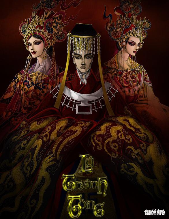 Thành Lộc, Mâu Thủy, Hương Ly hóa thân vua, hoàng hậu trong dự án Việt phục của Lê Long Dũng - Ảnh 5.