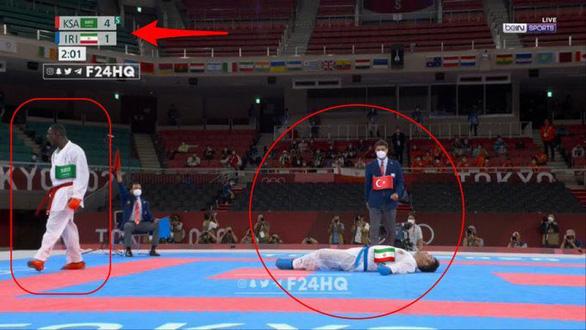 Võ sĩ karate bị đá ngất xỉu nằm trên cáng vẫn đoạt huy chương vàng Olympic - Ảnh 2.