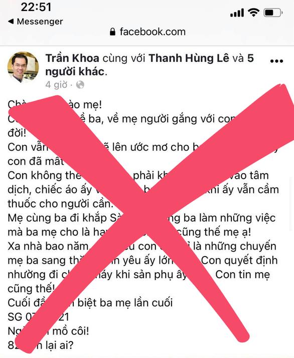 Xử phạt hai chủ tài khoản Facebook vì vô ý chia sẻ tin bác sĩ Khoa nhường ống thở cứu sản phụ - Ảnh 1.