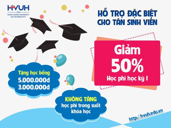 Trường ĐH Hùng Vương TP.HCM hỗ trợ cho tân sinh viên trong mùa dịch - Ảnh 1.