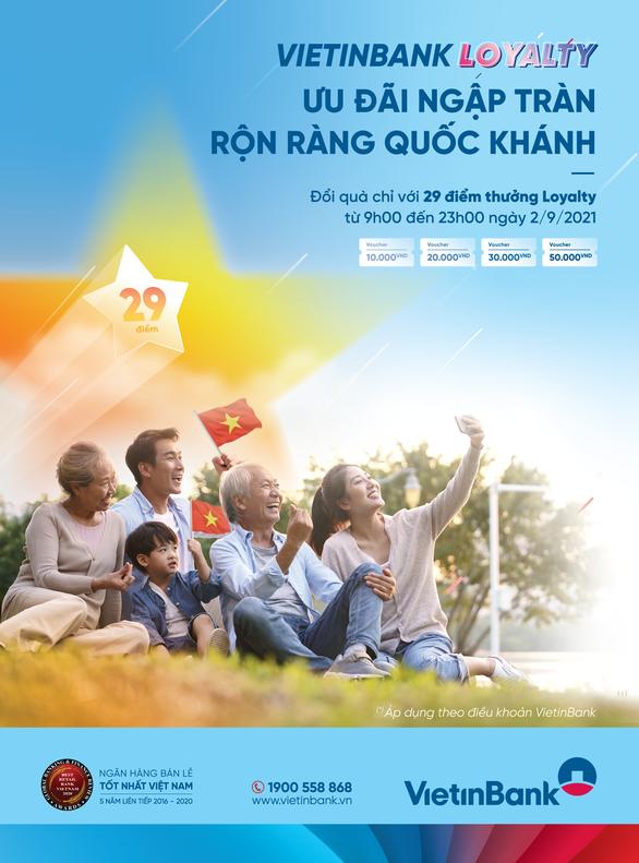 Cùng VietinBank Loyalty đổi quà tặng voucher thành tiền - Ảnh 1.