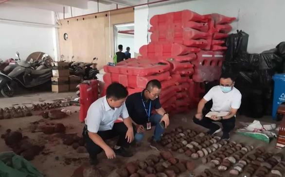 Triệt phá xưởng sản xuất ma túy, tìm thấy 542 hóa thạch trứng khủng long - Ảnh 2.