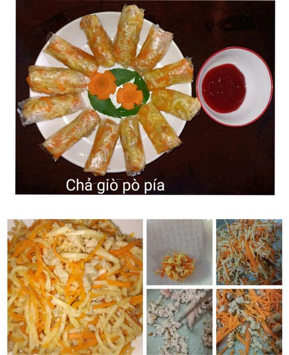 Cơm Ý, chả giò pò pía và thịt băm chiên từ nguyên liệu giản đơn - Ảnh 4.