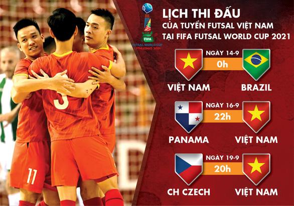 Lịch thi đấu của Việt Nam tại FIFA Futsal World Cup 2021 - Ảnh 1.
