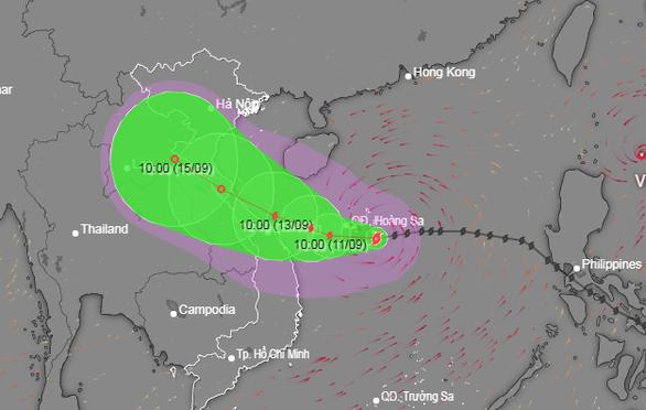 Từ đêm nay 10-9, Quảng Trị đến Quảng Ngãi sẽ có mưa to do bão số 5 - Ảnh 2.