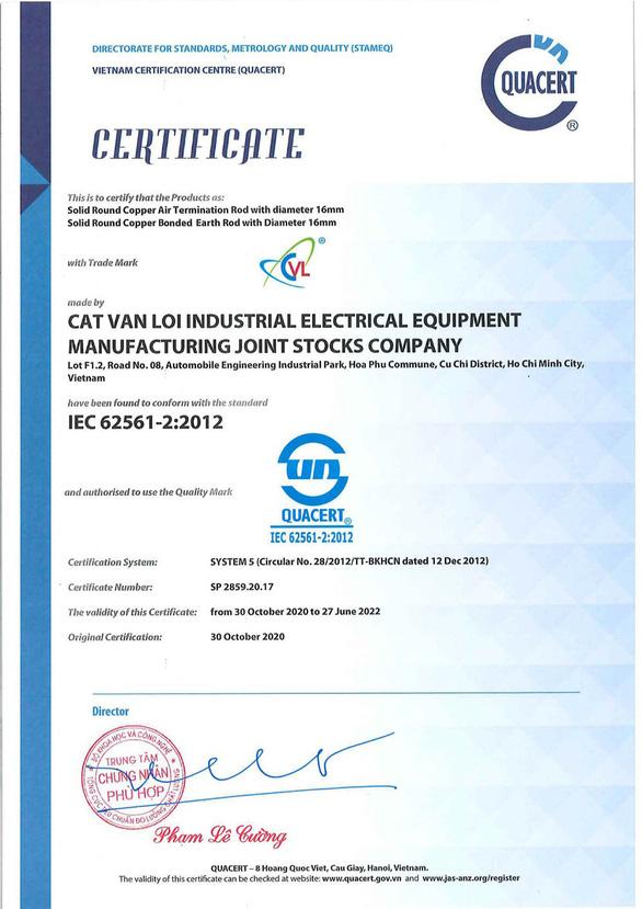 Hóa chất giảm điện trở đất (GEM) Cát Vạn Lợi đạt chuẩn IEC 62561 - Ảnh 2.
