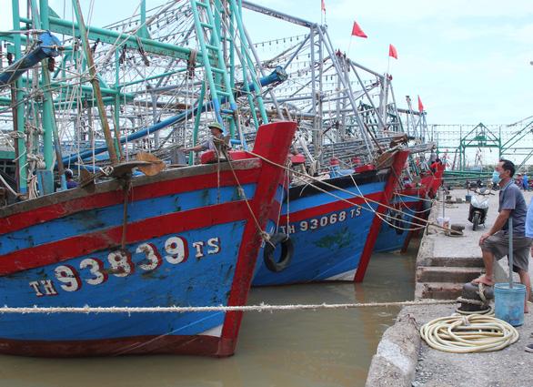 Đã tìm thấy 3 tàu cá của ngư dân Thanh Hóa mất liên lạc khi vào bờ tránh bão - Ảnh 1.