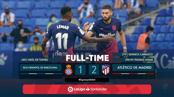 10 phút bù giờ khó hiểu giúp Atletico Madrid giành 3 điểm quý giá - Ảnh 1.