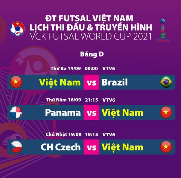 Đội tuyển futsal Việt Nam làm quen với sân thi đấu chính thức, sẵn sàng đối đầu Brazil - Ảnh 3.