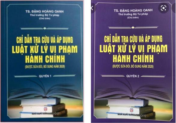 Sách mạo danh thứ trưởng Bộ Tư pháp chủ biên được chào bán đến tận Sở Tư pháp - Ảnh 1.