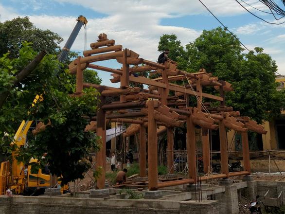 Tu bổ chùa Thổ Hà làm vỡ bia đá cổ 342 năm: Yêu cầu đặt lại vị trí cũ, rà soát toàn bộ - Ảnh 3.