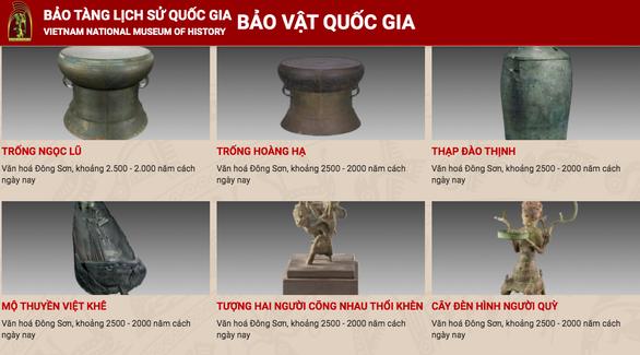Bảo tàng Lịch sử quốc gia đưa khách tham quan online các bảo vật bằng công nghệ 3D - Ảnh 1.